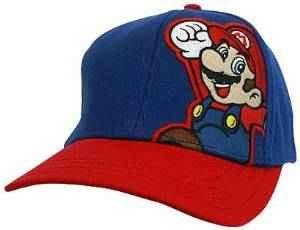 SUPER MARIO BASEBALL HAT MARIO RED-BLUE