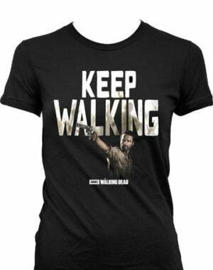 WALKING DEAD LADIES T-SHIRT KEEP WALKING L